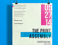 The Print Assembly / Co Lab event poster
