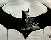 Batman Arkham painting