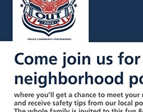Night Out Community Flyer