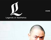 Legends of Aesthetics Website Design and Development