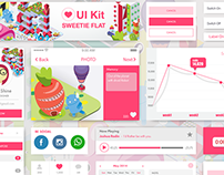 Sweetie Flat UI kit