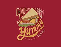 Food Illustrative Typography Design
