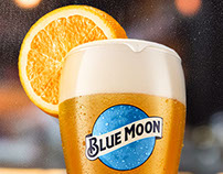 Cerveza Blue Moon -Acción Punto de Ventar Bar
