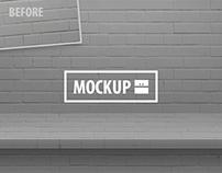 12 One-Piece Shelf Mockups Set (Photoshop)