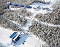 Winter ski complex