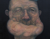 Popeye oil portrait