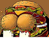 """Burger Walrus"" Tshirt for Upper Playground"