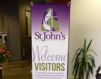Church Stand Up Welcome Banner