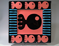 Lakes Fused Glass Plate Series By Eric Pilhofer