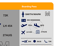Lufthansa's New Boarding Pass Design