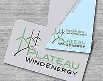 Logo and Business Card for Plateau Wind Energy