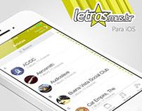 App Letras.mus.br para iOS