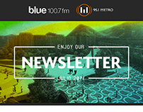 Radio Metro - Blue. Newsletter
