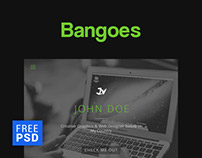 Bangoes - One Page Portfolio FREE PSD Template