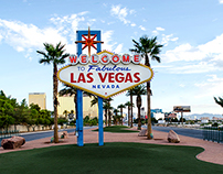 Las Vegas Welcome Sign Cleanup