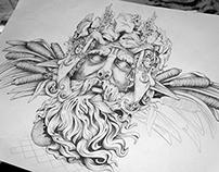 'Bacchus' - Composition Sketch V2