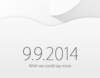 Apple 2014 September event invitation