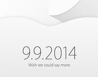 Apple 2014 September event invitation