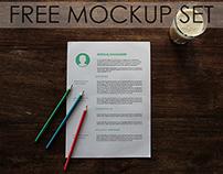 Free Mockup Set - 10 PSD's