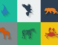 Flat Design - Animals