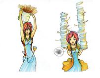 Illustration   Cookbook Illustrations w Copic Markers
