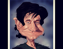 Robin Williams  as Peter Pan R.I.P. Caricature