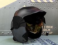 Game art - Blender - Eagle Alpha - pilot's helmet