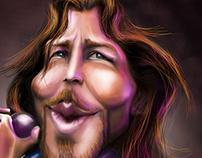 Caricature Eddie vedder