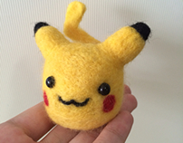 Pikachu felting