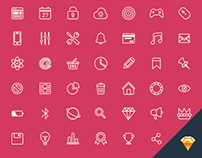 64 Sketch line icons for free download :)