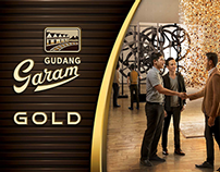 Gudang Garam Gold Print Ad Touch of Gold 1st