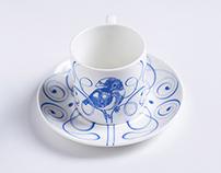 Love Birds / Espresso Cup & Saucer