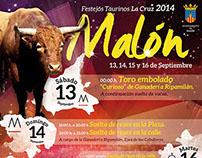 Malón, FESTEJOS TAURINOS 2014