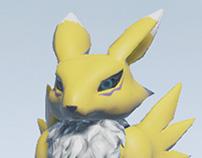 3D Character Renamon