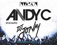 Andy C INVASION poster