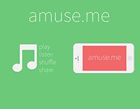 amuse.me | A concept music app beyond conventional