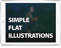SIMPLE FLAT ILLUSTRATIONS