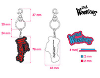 """The Warriors"" keyrings"