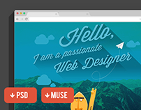 Free PSD e MUSE Website Portfolio Template