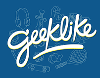 Geeklike App - Type & Illustrations