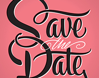 SAVE THE DATE | Hand Lettering