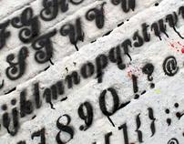 Stencil Script - Font Design