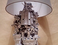 Silver Castle Lamp