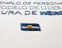 Bordado homenaje a San Martín