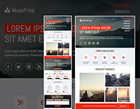 Adobe muse themes widgets on behance download adobe muse free premium theme pronofoot35fo Image collections