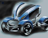 Alienox futuristic vehicle