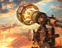 Steampunk observatory
