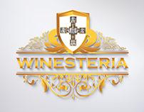 WINESTERIA logotype design