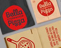 Stonebaked pizzeria branding- Bella Pizza