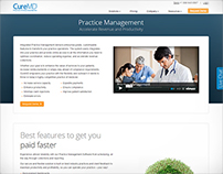 CureMD Website Design